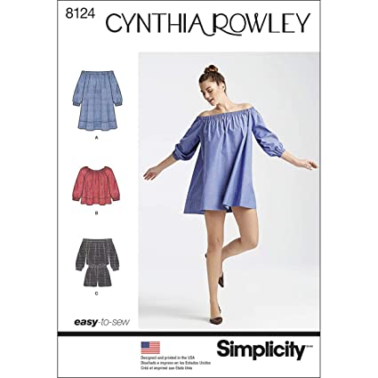 Simplicity Pattern 8124 Pelele de Misses Vestido y Top Cynthia Rowley Collection Patrones de Costura