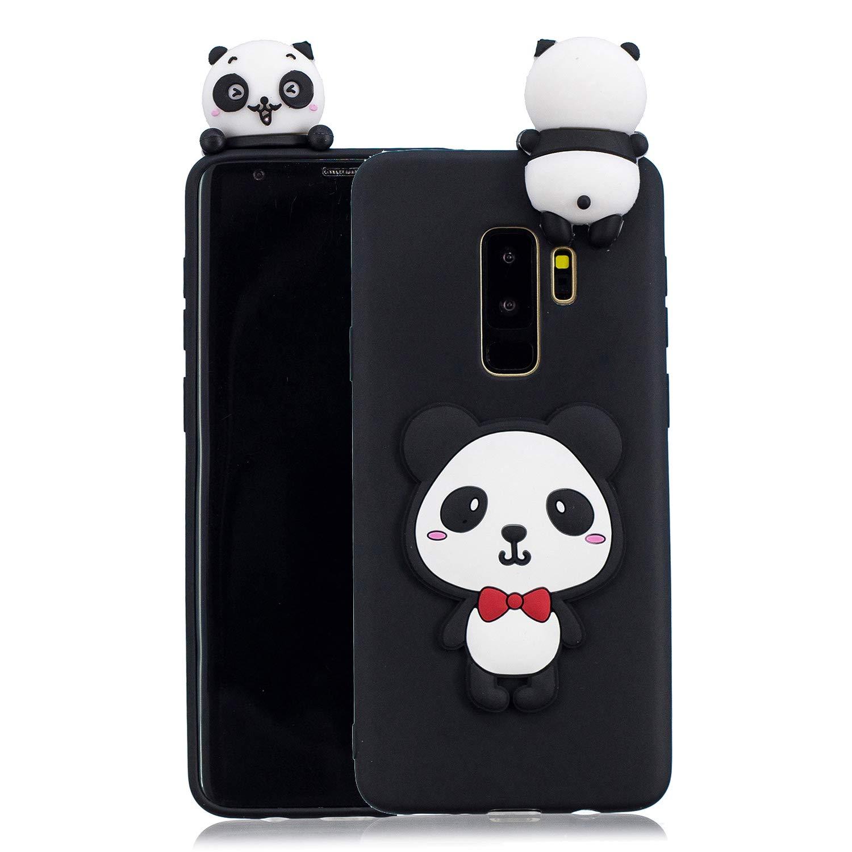 HopMore Coque Samsung Galaxy S9 Plus / S9 + Silicone Souple 3D Design Motif Panda Animal Drô le Mignonne Etui Samsung S9+ É tui Antichoc Ultra Mince Fine Housse Protection pour Fille Femme - Ananas