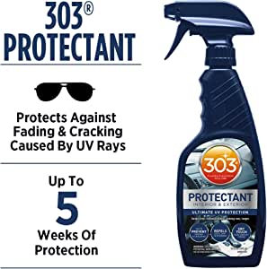 303 (30382) Products Automotive Protectant - Interior And Exterior - Ultimate UV Protection - Helps Prevent Fading And Cracking - Repels Dust, Lint, And Staining - Non Greasy Finish, 16 fl. oz.