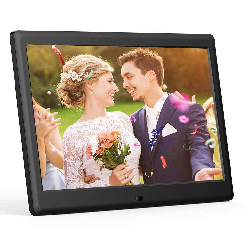 DBPOWER 7 Inch Digital Picture Frame - Upgraded Digital Photo Frame with (16:9) HD IPS Display, Photo/Music/Video Player/Calendar/Clock/Auto-On/Off Timer, Advertising Player with Remote Control, Black by DBPOWER