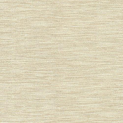 Brewster 2446-83456 Fiennes Faux Grasscloth Wallpaper, Cream ()