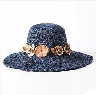 WFYJY-grossi cornicioni Le Ferie la Crema Solare la Spiaggia Grande Cappello raggruppabili Cappello Cappello Cappello di Paglia.f.