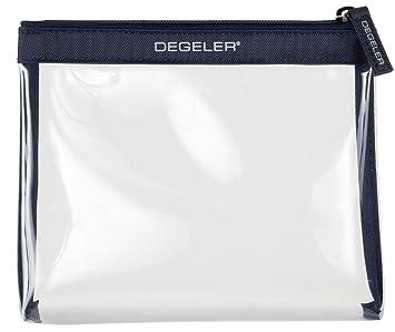 Degeler Neceser Transparente | Adecuado para el Transporte de liquidos en el Avion | Bolsa de cosméticos con Cierre de Cremallera - Azul: Amazon.es: ...
