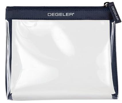 Degeler Neceser Transparente | Adecuado para el Transporte de liquidos en el Avion | Bolsa de cosméticos con Cierre de Cremallera - Azul