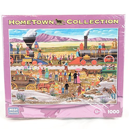 - HOMETOWN COLLECTION Driving the Gold Spike 1000 Piece Jigsaw Puzzle