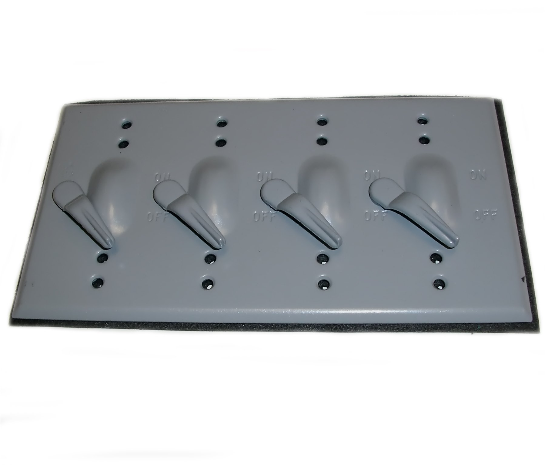 Mulberry Metal 30478 Weatherproof Cover, 4-Gang, Type: 4 Lever Switch, Die Cast