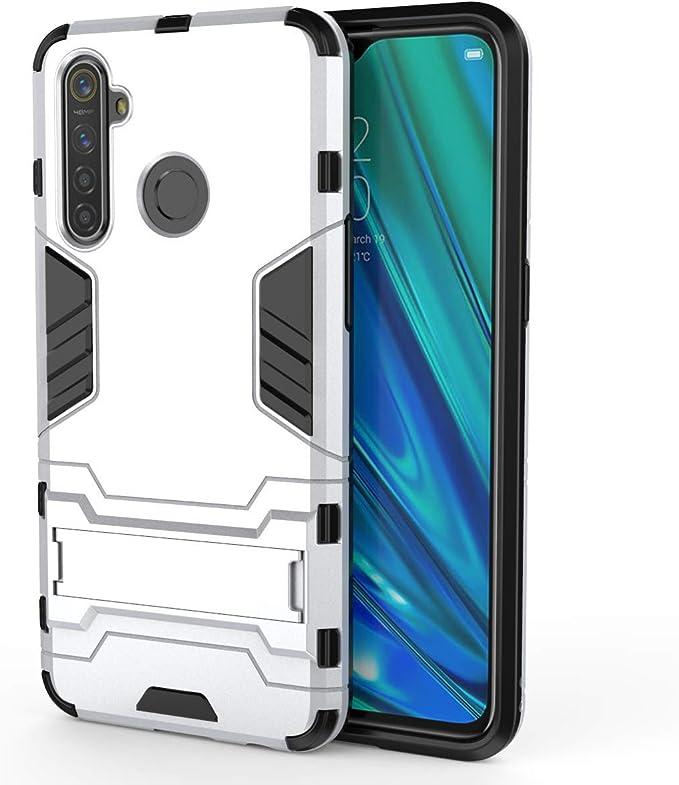 HDOMI Funda OPPO Realme 5 Pro/Realme Q,Desmontable PC + Silicona Gel TPU Cubierta Protectora de Doble Capa para OPPO Realme 5 Pro/Realme Q (Plata): Amazon.es: Electrónica