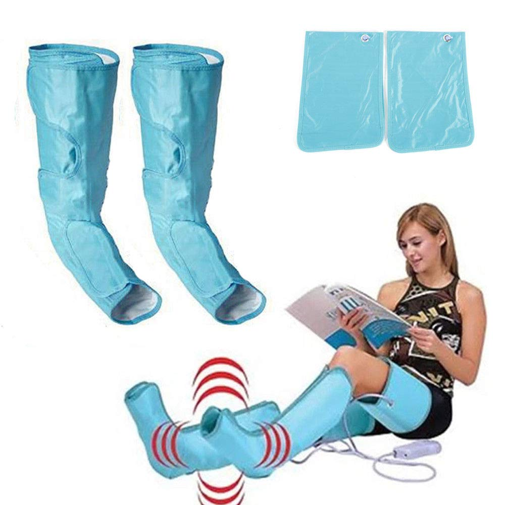 Electric Air Compression Leg Wraps, Electric Air Circle Massager Compression Leg Wrap Massage Therapy Boost Blood Circulation Pressure Massage Relax for Leg/Foot (USA Stock)