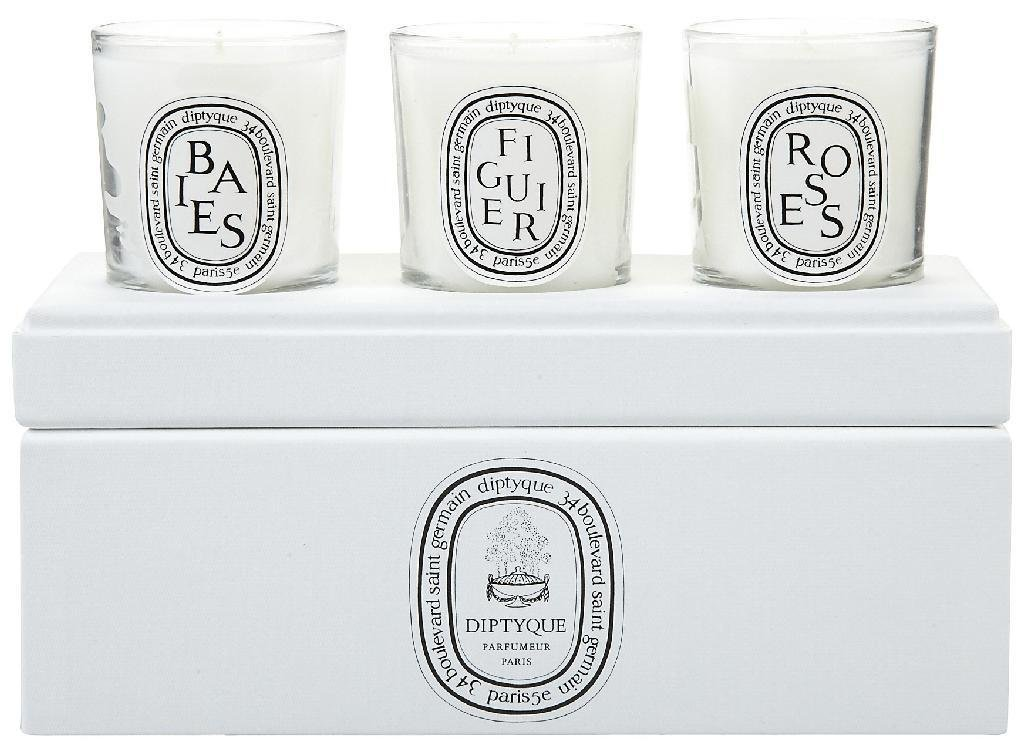 Diptyque Votive Candle Trio-Baies, Figuier, Roses-3 ct. by Diptyque