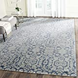 Safavieh Sofia Collection SOF381C Vintage Blue and Beige Distressed Area Rug (4′ x 5'7″) For Sale