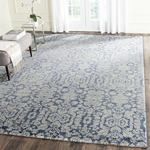 Safavieh Sofia Collection SOF381C Vintage Blue and Beige Distressed Area Rug (4' x 5'7