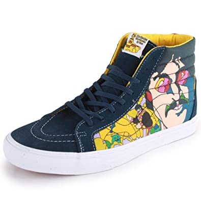 5b92ee0abb Vans The Beatles Sk8-Hi Reissue QG2C6D Unisex Lace Up Suede   Canvas  Trainers Navy Yellow - 12  Amazon.co.uk  Shoes   Bags