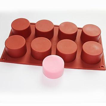 Molde de silicona redondo para jabones