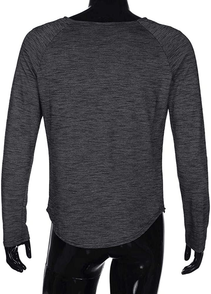Limsea 2018 Fashion Mens O Neck Slim Fit Long Sleeve Muscle T-Shirt Tops Blouse