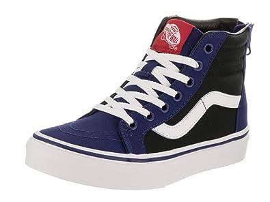 53ee9588990dc9 Image Unavailable. Image not available for. Color  Vans Kids Sk8-Hi Zip  (Pop) Blue Depths Black ...