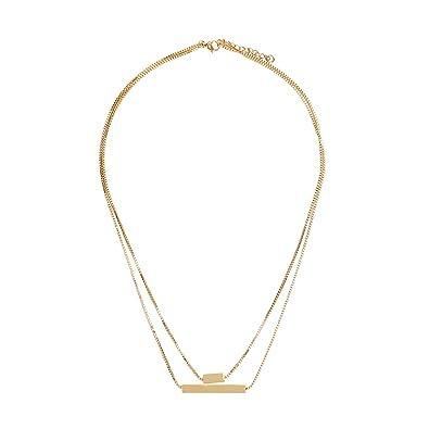 44e022a886b2 Parfois - Collar De Acero - Mujeres - Tallas Única - Dorado  Amazon ...