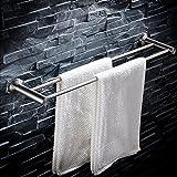 MJG-YJ Towel Shelf/Multi-Function Towel Rack SUS304 Stainless Steel Towel Storage Wall Mounted Bath Towel Rail, Single Towel Bar for Bathroom (Size : 60cm)