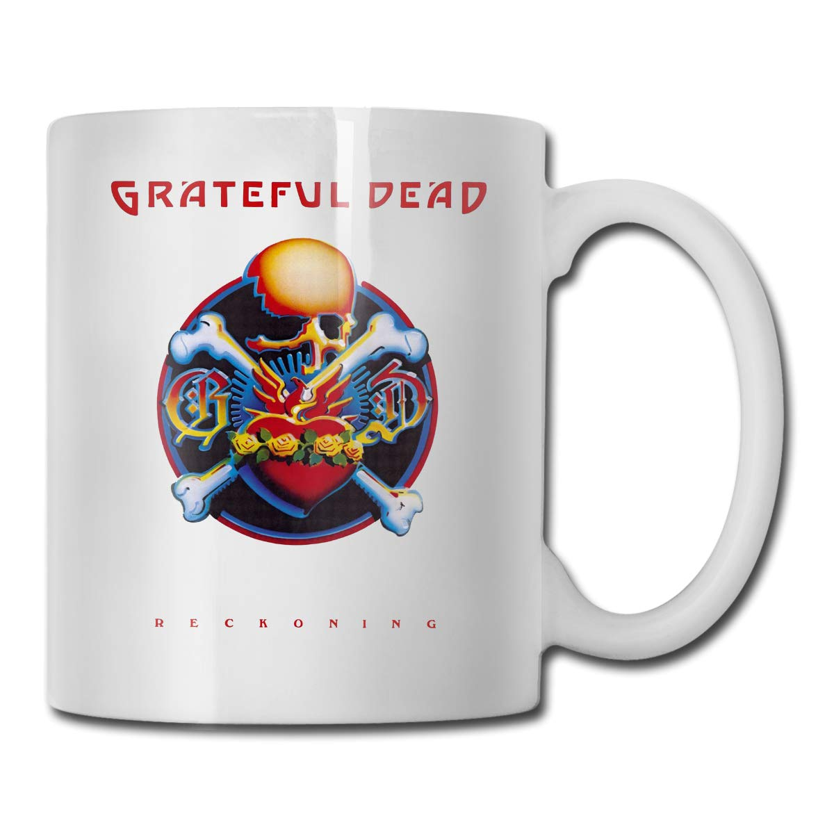 Office Coffee Cup CassidyGratefulDead Geblackus 14.72 OZ Capacity Mug is Perfect for CoffeeWhite
