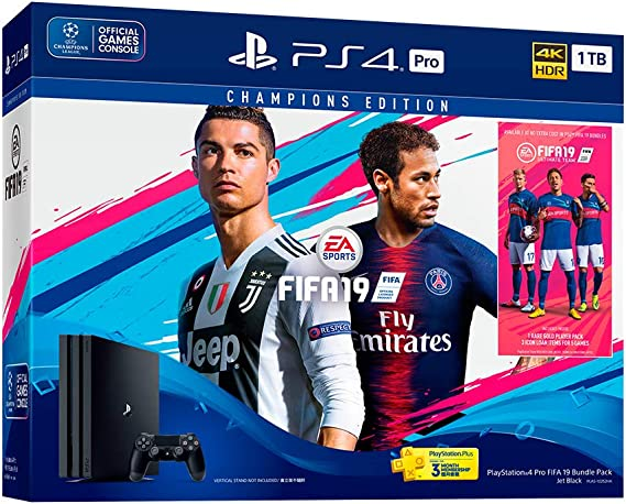 Sony PlayStation 4 Pro 1TB + FIFA 19 Negro 1000 GB Wifi - Videoconsolas (PlayStation 4 Pro, Negro, 8192 MB, GDDR5, AMD Jaguar, AMD Radeon): Amazon.es: Videojuegos