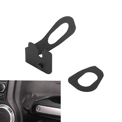 AMOUTOR CB Mic Mount, Jeep Wrangler JK 2011-2020 Passenger Holder Grab Bar, Microphone Mounting Bracket: Automotive