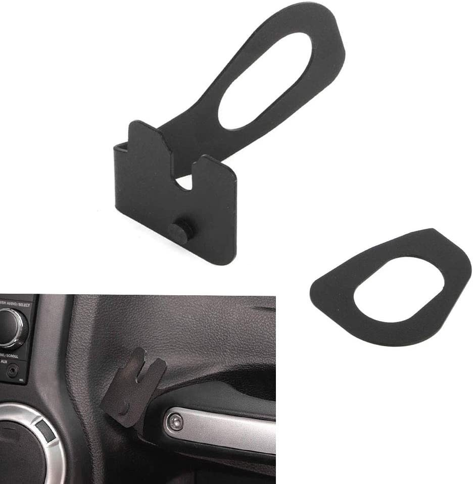 AMOUTOR CB Mic Mount, Jeep Wrangler JK 2011-2018 Passenger Holder Grab Bar, Microphone Mounting Bracket