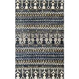 Safavieh Bohemian Collection BOH648A Hand-Knotted Blue Jute Area Rug (8′ x 10′) Review