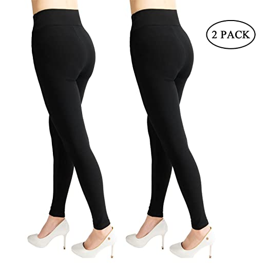 d6ca90350f20dc Belle Dura Women's Cotton Capri Leggings Activewear Yoga High Rise Workout  2 Black Gray Pants for