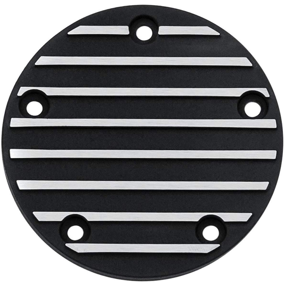 Satin Black//Machined Kuryakyn Finned Timing Engine Cover Compatible for Harley-Davidson Motorcycle Twin Cam 99-17