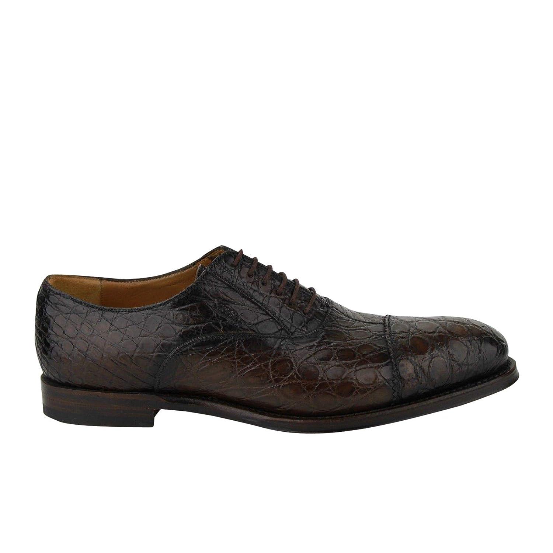 7a2d96d02cf Amazon.com  Gucci Oxford Brown Crocodile Leather Lace up Shoes 243813 2039   Shoes
