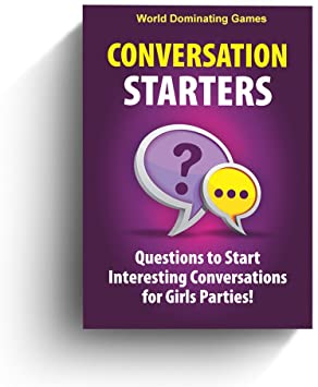Conversation Starters: Questions to Start Interesting Conversations for Girls Parties, Bachelorette! Travel Optimized Deck Game