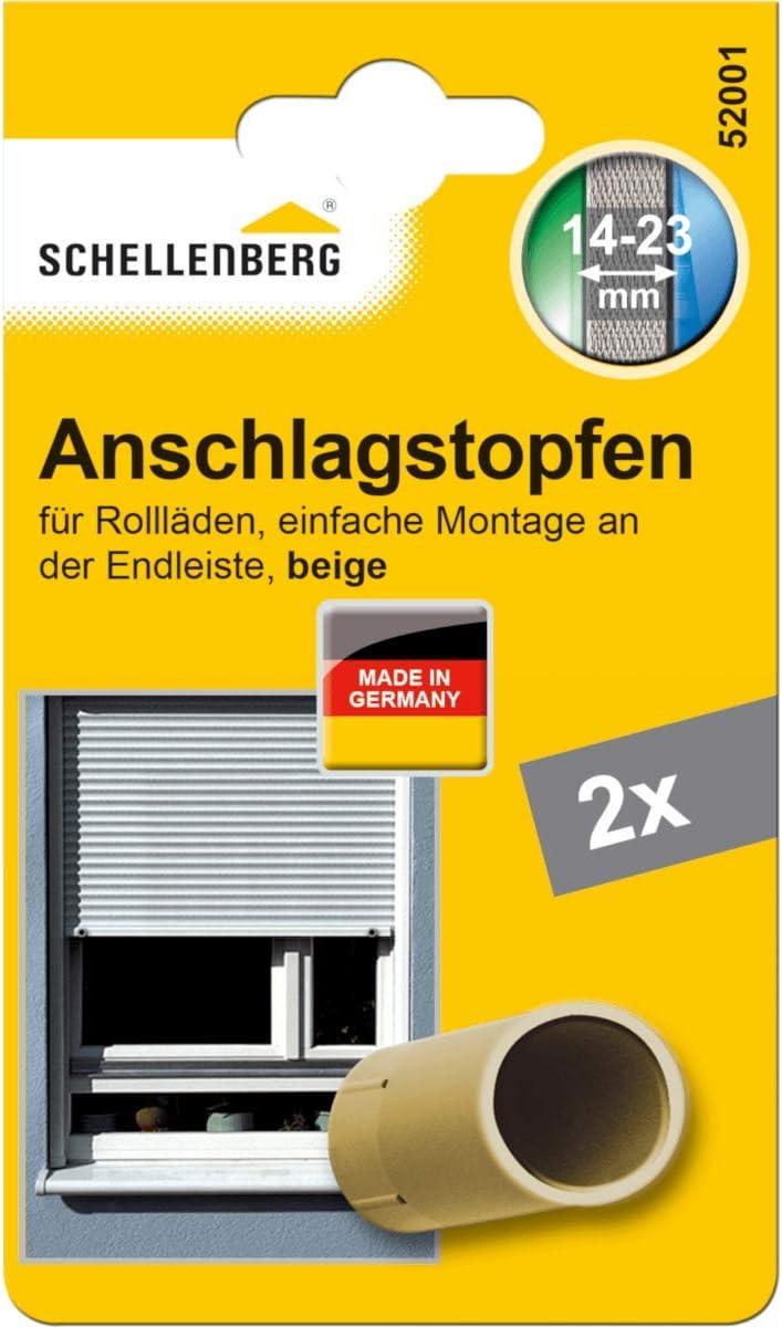 Doppelpack Braun Schellenberg 52004 Rolladenstopper Anschlagstopfen f/ür Rollladen 2 St/ück