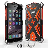 Iphone 6 Plus 6s Plus Case, Lwang Outdoor Sports Strong Protective Case for Iphone 6 Plus 6s Plus,[tempered Glass Screen Protector][silicone Case][aviation Aluminum Cover] (Thor Black/orange)