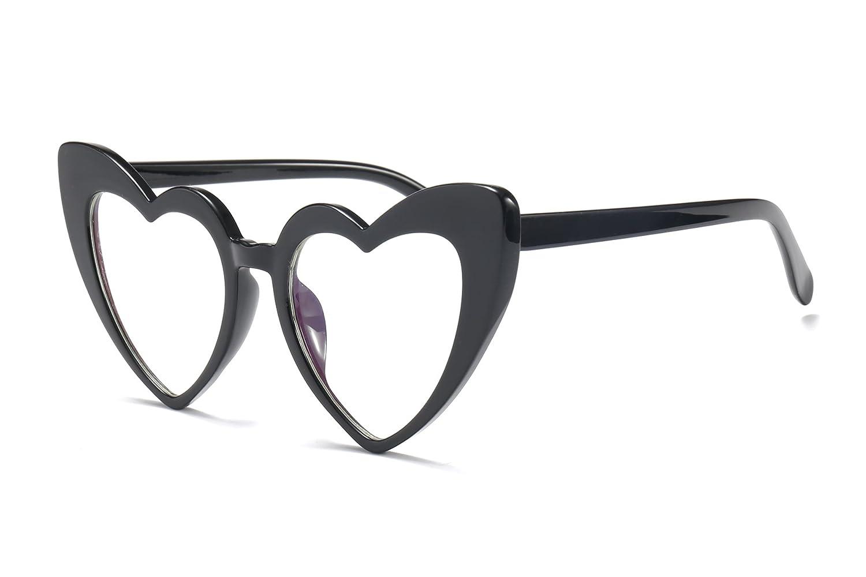 7446074c4d75 Amazon.com  FEISEDY Vintage Heart Shaped Sunglasses Women Stylish Love  Eyeglasses B2421  Clothing