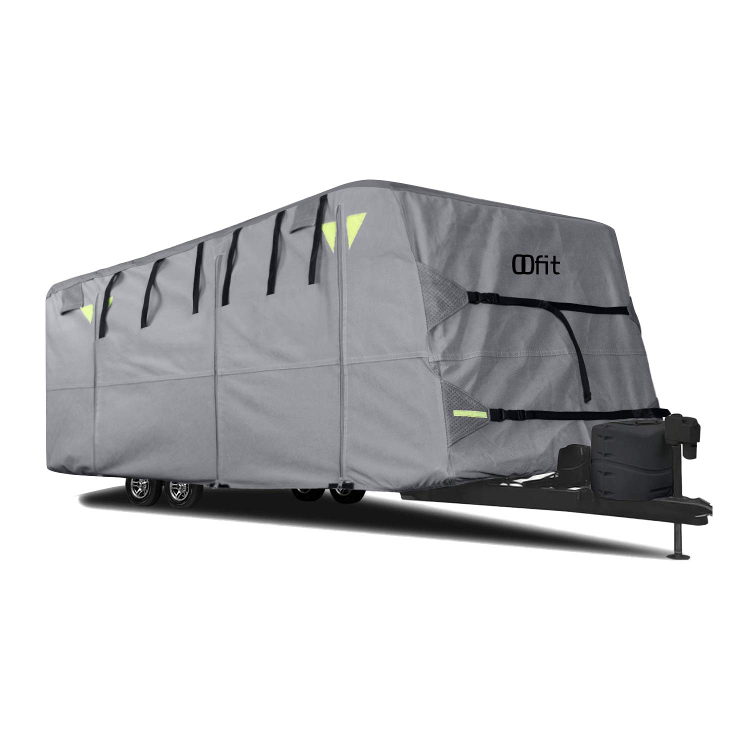 OOFIT Travel Trailer RV Cover Fits for 27' - 30'for RVs, Breathable Waterproof Anti-UV Ripstop Weather Resistant 4 - Ply Non-Woven Fabric Roof