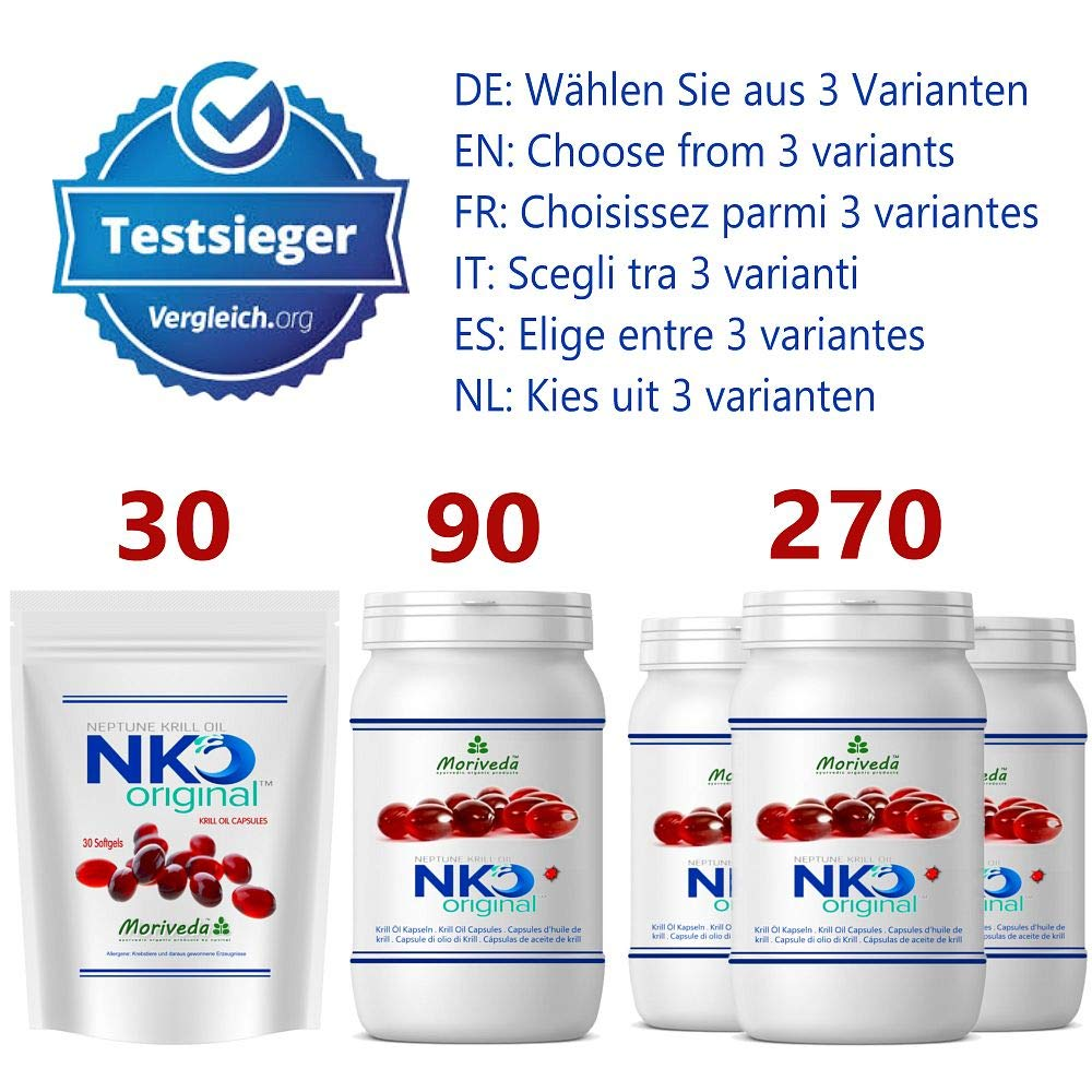 NKO aceite de krill cápsulas (ganador de la prueba) 30, 90 o 270 ...