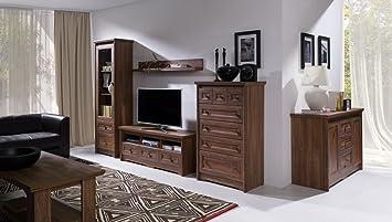 Wohnzimmer Komplett Set A Pikine 6 Teilig Farbe Eiche