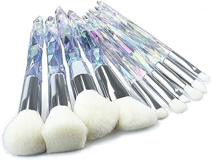 Teabelle 10pcs / Set Brochas de Maquillaje Diamante Unicornio Pincel de Cristal Pinceles Maquillaje Herramienta Cosmética Blanco: Amazon.es: Juguetes y juegos