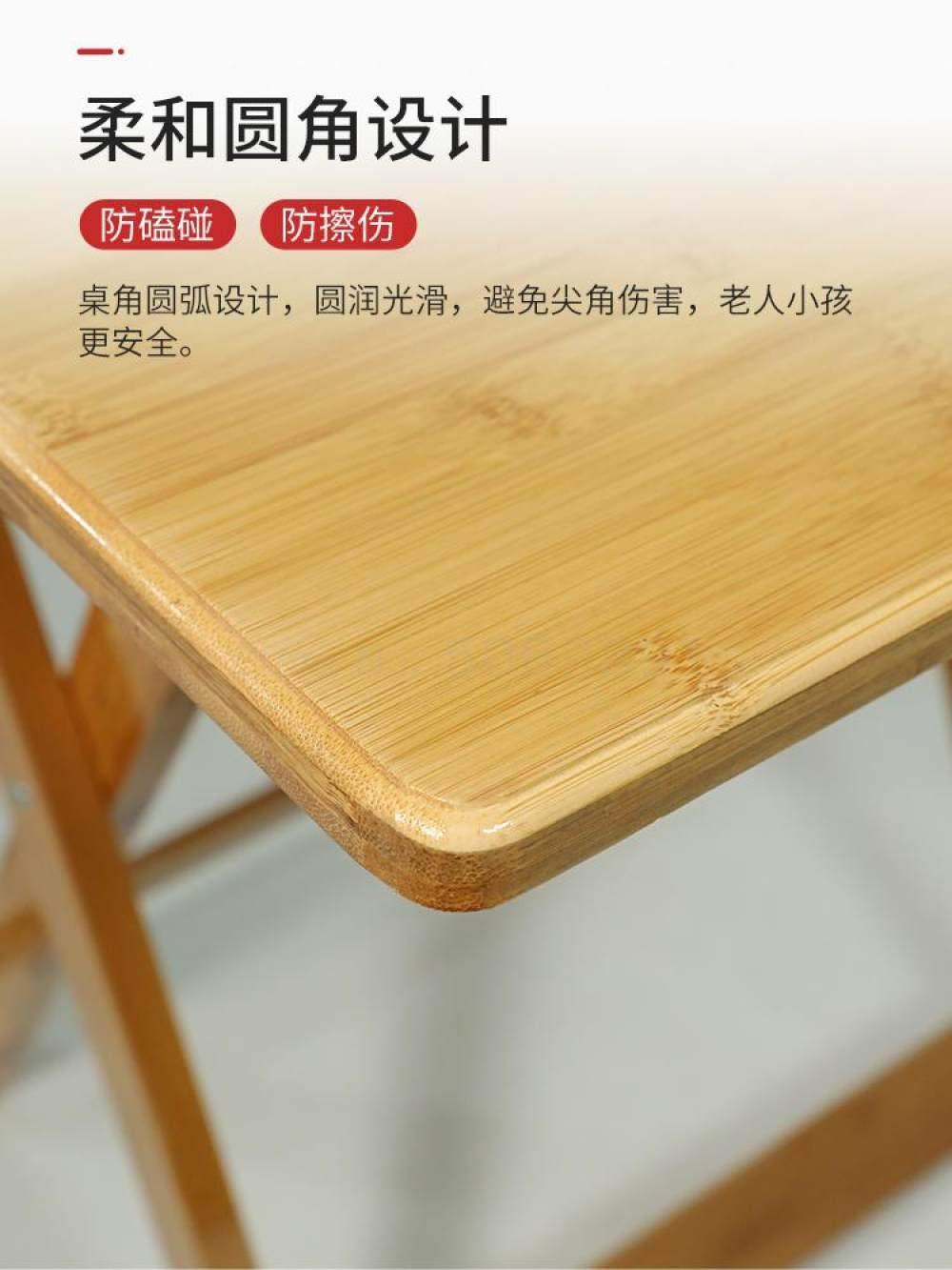 POXZPM matbord fällbart bord, litet bord, enkelt matbord, fyrkantigt bord, hushåll fyrkantigt bord, bambubord, samma som bild 4 Same as Picture 4
