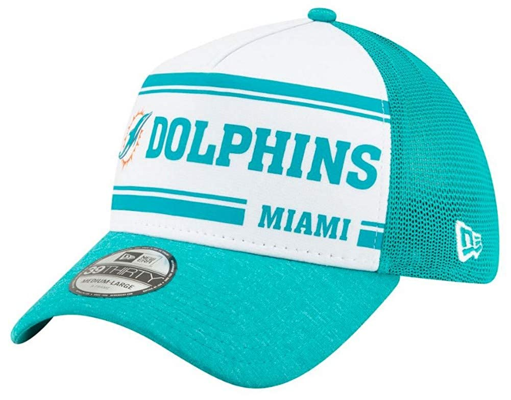 New Era Mens Miami Dolphins Cap Hat Sideline Home NFL Football Mesh 100 Season