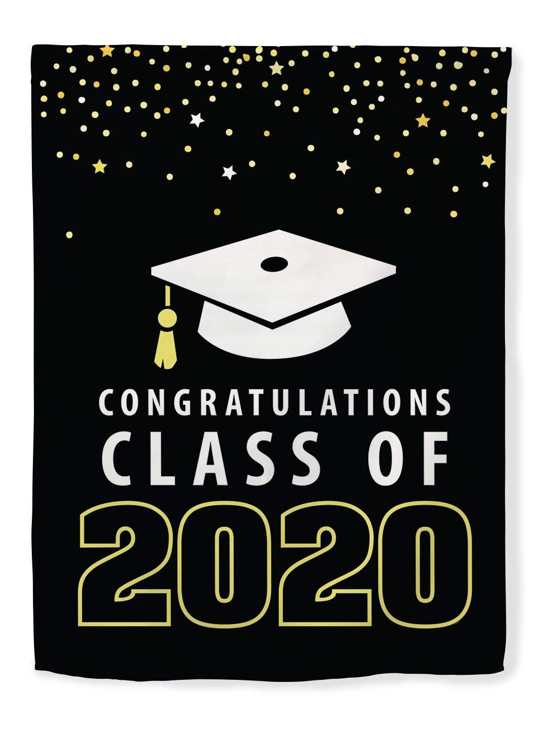 Graduation Centerpieces 2020.Thiswear Graduation Decor Congratulations Class Of 2020 Decorations Graduate Flag Vertical House Flag Grad