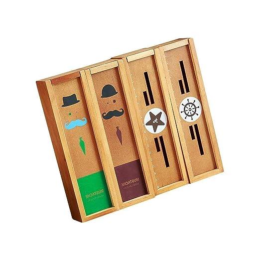 Lvcky - 1 Estuche de Madera para bolígrafos, Organizador de ...