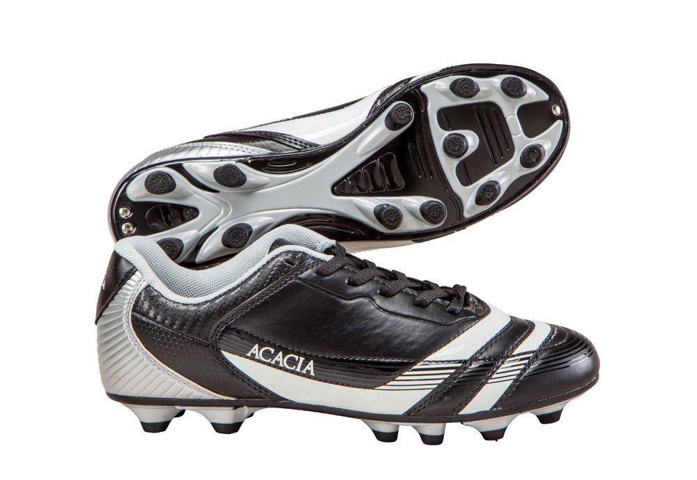 Acacia Thunder Soccer Shoes B00KE1Y07O 4Y|Black/Silver