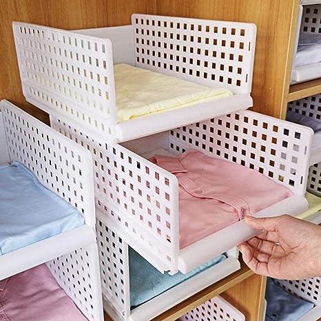 Yoillione Regal Kleiderschrank Organizer Schublade Weiss Fur Schlafzimmer Badezimmer Kuchen Stapelbar Schrank Organizer Kleiderschrank Aufbewahrung Garderobe Organizer Fur Kleidung Amazon De Kuche Haushalt