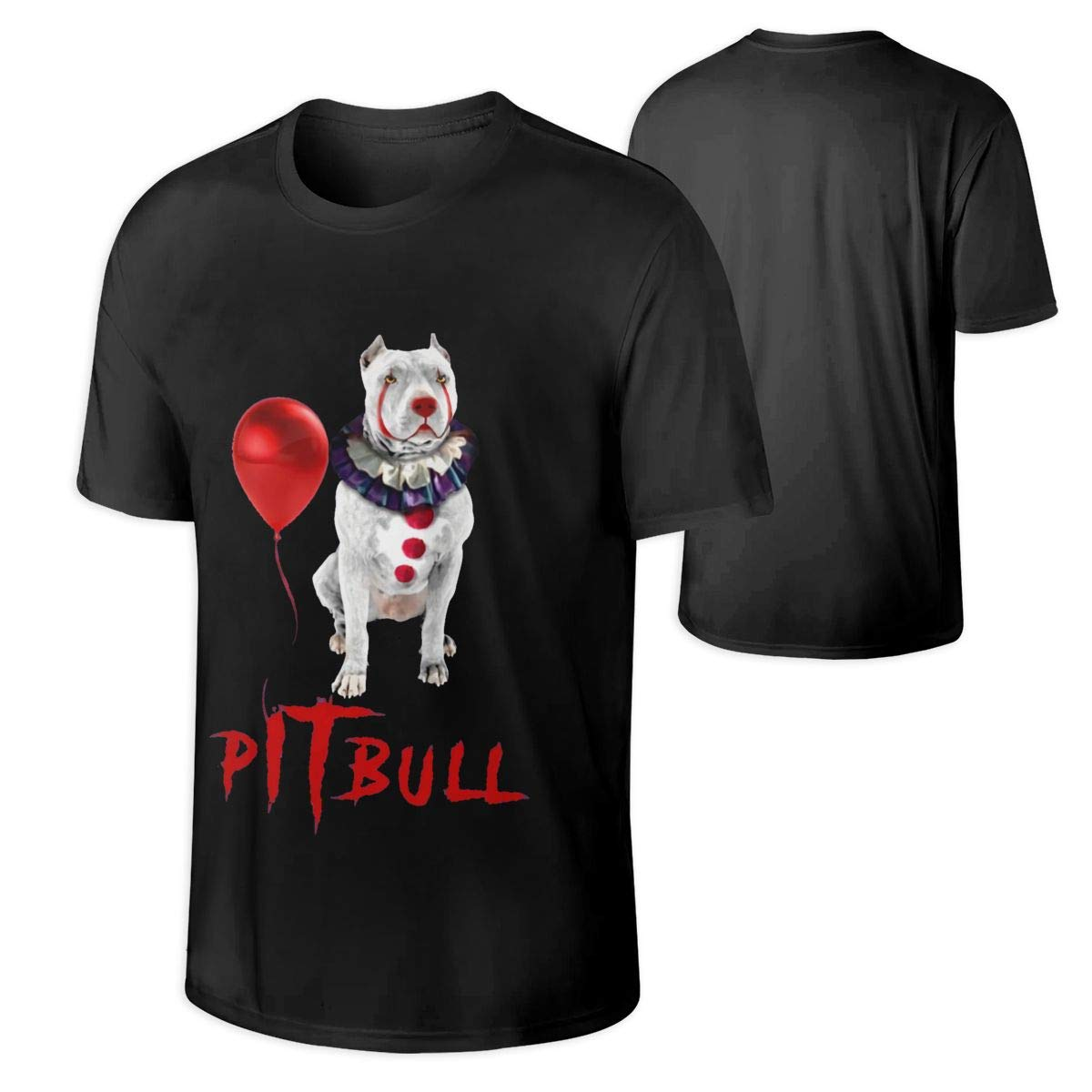 S Pitbull Pennywise Halloween Cool T Shirt Black