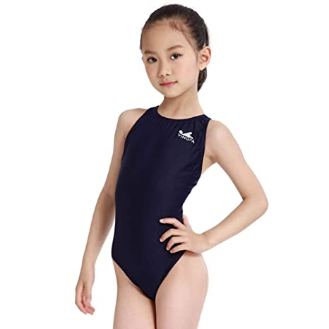 b2e6366a19ec3 YingFa One Piece Racing Swimsuit for Girls Competition Swimsuit Training  Swimsuit Girl's Size 10-12