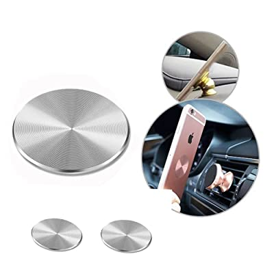 ZZoo Adhesive Metal Plate Mounting Kits Stickers Discs Magnetic Patch Compatible with Air Vent Magnetic Car/Vehicle Mount Holder Especially for iPhone 6S 7 7plus (2pack-Jet Black)