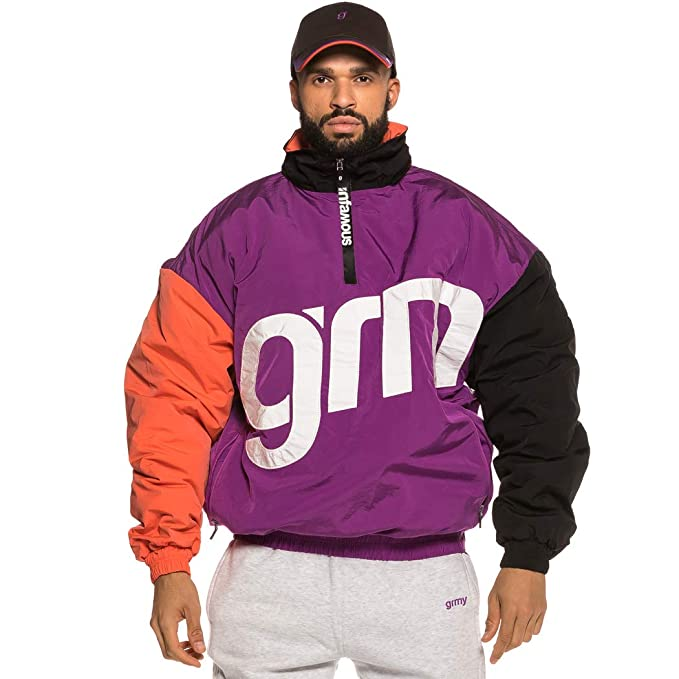 Grimey Chaqueta Flamboyant Pull Over FW18 Purple: Amazon.es: Ropa y accesorios