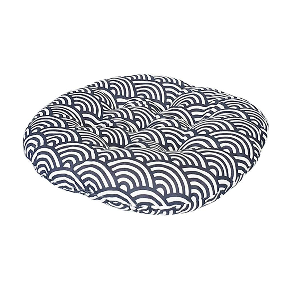 1KTon Chair Cushion Round Cotton Upholstery Soft Padded Cushion Pad Office Home Or Car by 1KTon