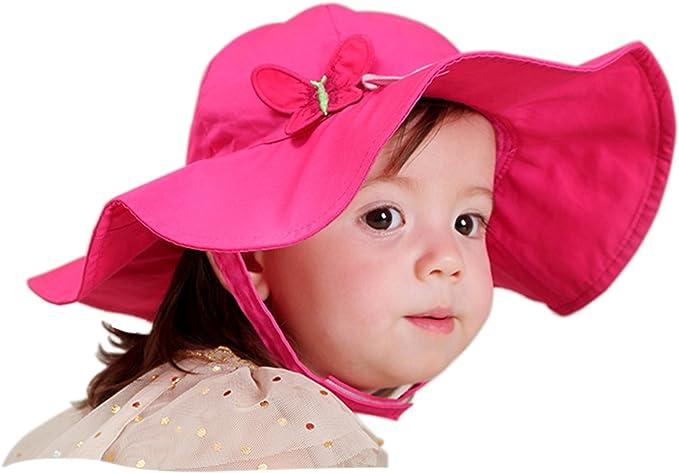 Snyemio Sombrero de Sol Niña Bebé Algodón Solar Gorro con Barbijo ...