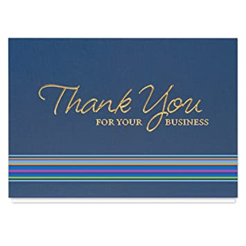 Amazon Com Thank You For Your Business Card 25 Premium Thank You